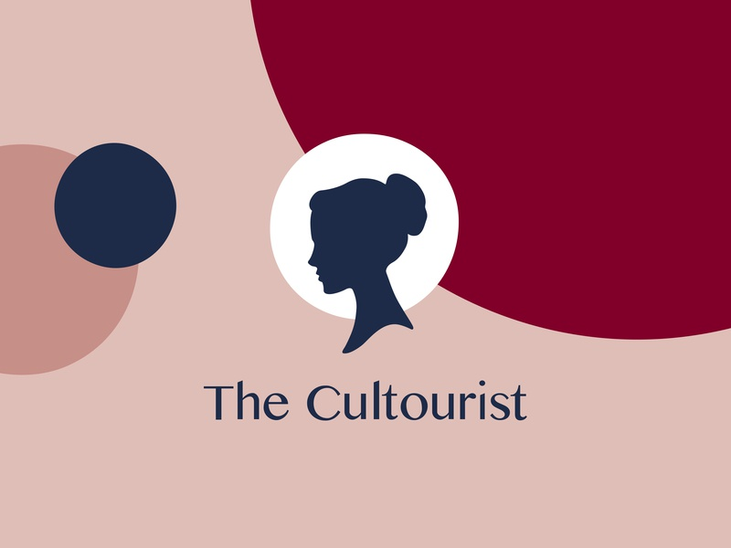 The Cultourist — Branding type identity travel colour logo design branding typography