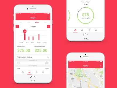 Gasline App budgeting transportation concept automotive sketch product design ui design