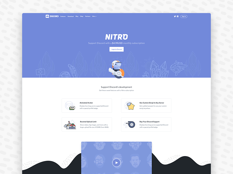 Nitro Subscription by Karen Dessire for Discord on Dribbble