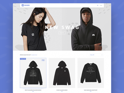 Merch Homepage product ui design minimal shopping store merch ecommerce shop