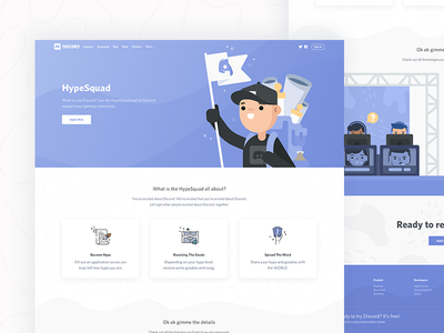 HypeSquad hypesquad lan events ui games gaming characters icons vector illustration site web