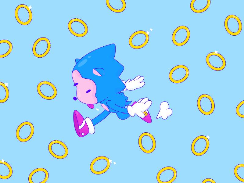 HBD Sonic vector sega illustration rings gamer video game games sonic