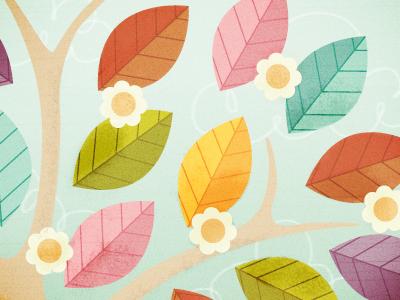 Dribbble leaves2