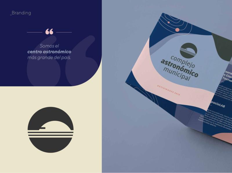 Branding Complejo Astronómico Municipal illustration branding design