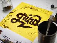 Coffee Grind Lettering