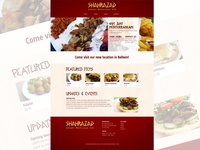 Sharazad Restaurant Website