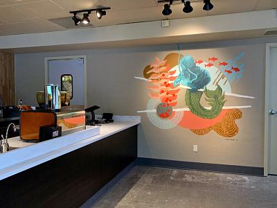 Starbucks - Admiral pattern texture painting muralist illustration mural