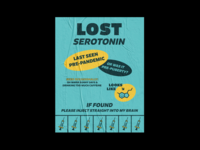 LOST clean graphicdesign poster 2d icon vector design illustration