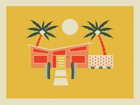 Dream Home 2d clean design vector illustration graphicdesign