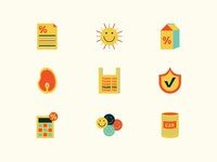 Icons WIP wip clean 2d vector design icon set graphicdesign illustration