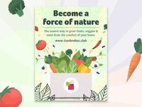 Veggie Poster - Garden Box
