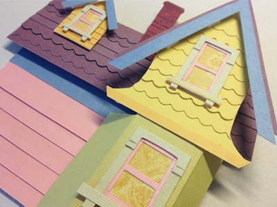 It's Just A House up disney pixar colors paper paper art paper craft house tangible 3d