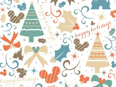 Walt Disney World Wrapping Paper 1 paper pattern design disney disneyworld christmas