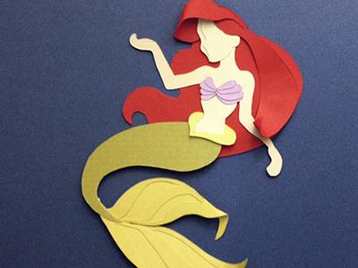 Making Mermaids ariel disney paper paper art paper craft handmade