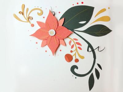 Fleur paper paper craft paper art flower floral nature organic pink