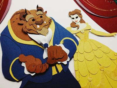 Beauty and the Beast disney beautyandthebeast beast belle design paper paper art paper craft handmade