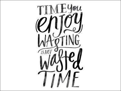 Enjoy brush lettering script design lettering quote handwritten typography