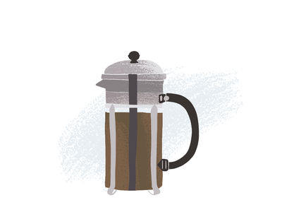 Texture Study french press icon vector illustration texture coffee