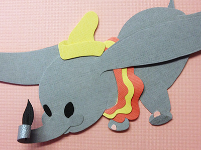 Fly High paper disney collage craft dumbo paper art paper craft texture tangible