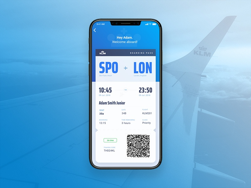 Boarding Pass - KLM typography klm ui challenge dailyui