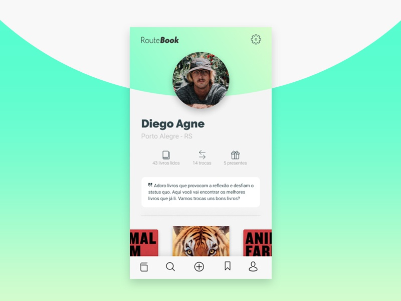Route Book - The book lovers app typography illustration design brand color pallete interface interaction ui