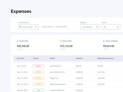 Expenses Management - Accounting Dashboard