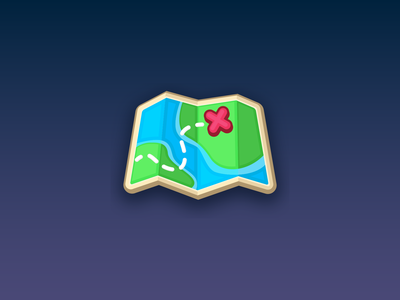 Map Icon - Game Assets - beavystore.com icon ux vector branding logo ui design game mobile app
