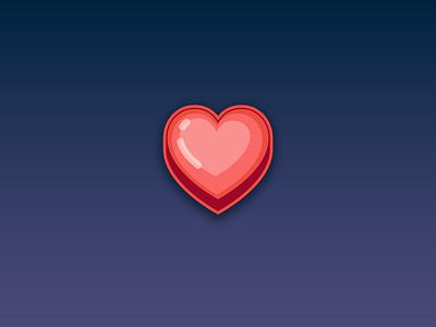 Heart Icon - Game Assets - www.beavystore.com mobilegames games iconpack love flat designer gamedesign gamedeveloper mobile app game design icon web illustration vector ui ux