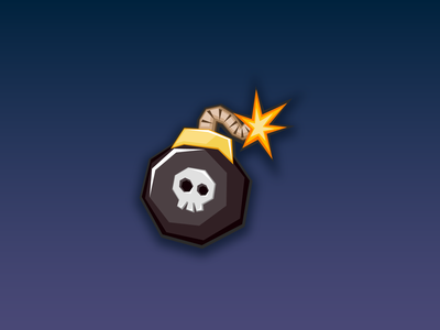 Bomb Icon - Game Assets - www.beavystore.com dribbble gameart indiegame indiedev illustraion gamedeveloper madewithunity vector ui ux icon design game app mobile
