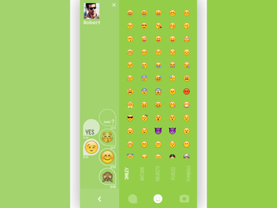 Awake? emoji chat snap chat meme photo keyboard mobile app friend new meet dating emoji