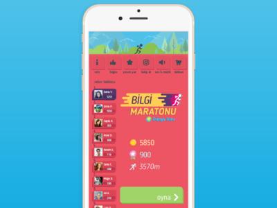 Menu UI 📱 game coin leaderboard design stickman run button start menu trivia ui app