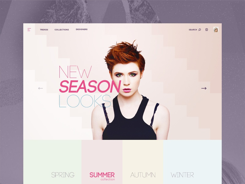 Fashion store concept (PSD) concept freebie psd store fahion template creative bootstrap website design webdesign