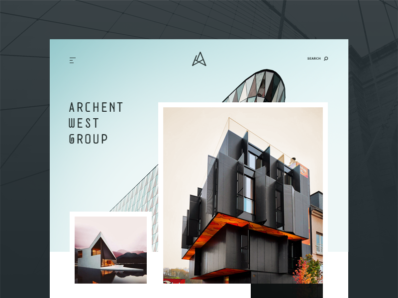 Architecture website concept psd sketch by sergiu for Architectural websites