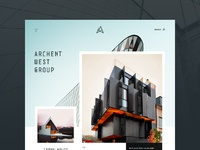 Architecture website concept full