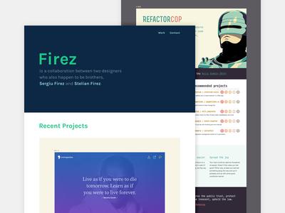 New Portfolio homepage freelancer minimal responsive website typography redesign sketch portfolio