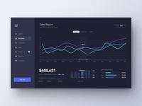 Sales Dashboard Dark
