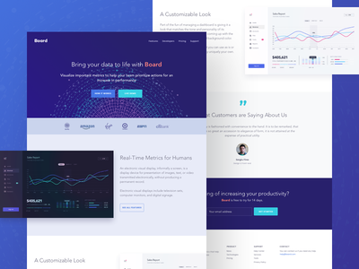 Board Landing Page photoshop sketch one page responsive ui dashboard creative bootstrap homepage design website landing page
