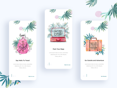 Travel app Onboarding website webdesign typography subscribe profile onboarding mobile responsive mobile landing page mobile minimal logo landing page interaction illustration icon design dashboard creativity cards app