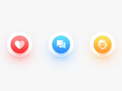 Icons in modern Style social android modern app icon color minimal