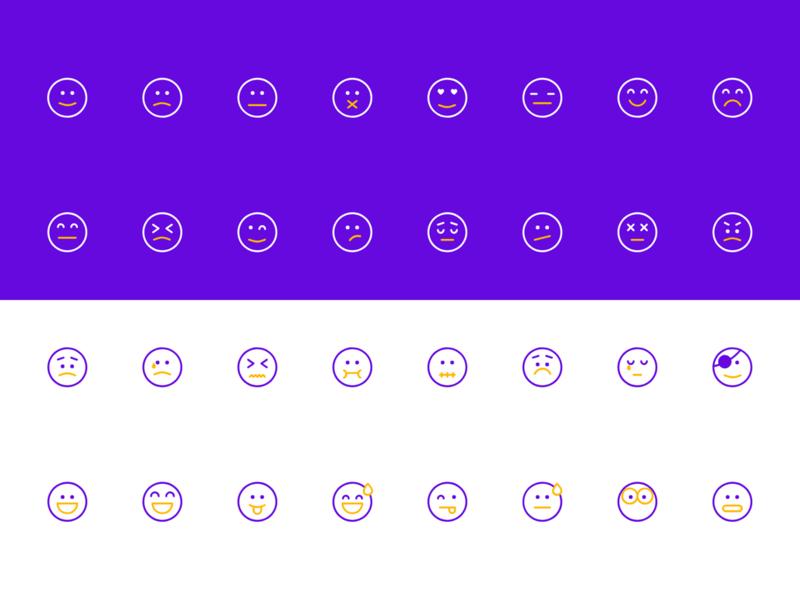 Emoji Icon Set clean ux ui color icon minimal app icon linear icon icon