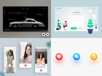 Top 4 Designs 2018 icon dribbble iphone x mobile ui web ui top 4 app design ux ui