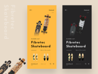 Skateboard Graphics eCommerce app design.