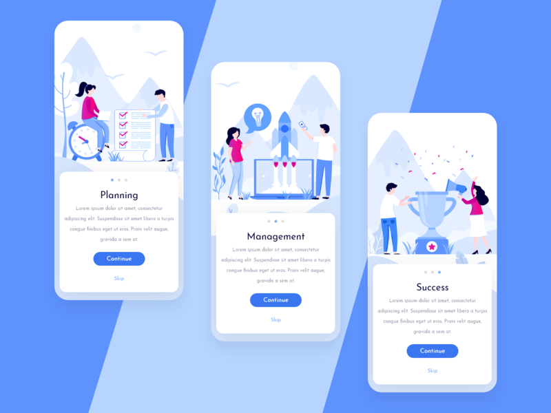 Onboarding For Project Management cards app