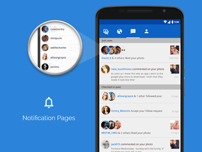 Notification page