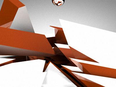 Cr4ck'D c4d cinema4d plugin orange crack explode real physics ball 3d abstract fun