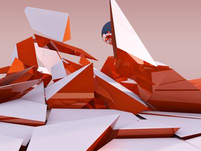 Cr4ck'D 2 c4d cinema4d cinema 4d orange abstract break ball crack explode physics plugin fun metallic reflection