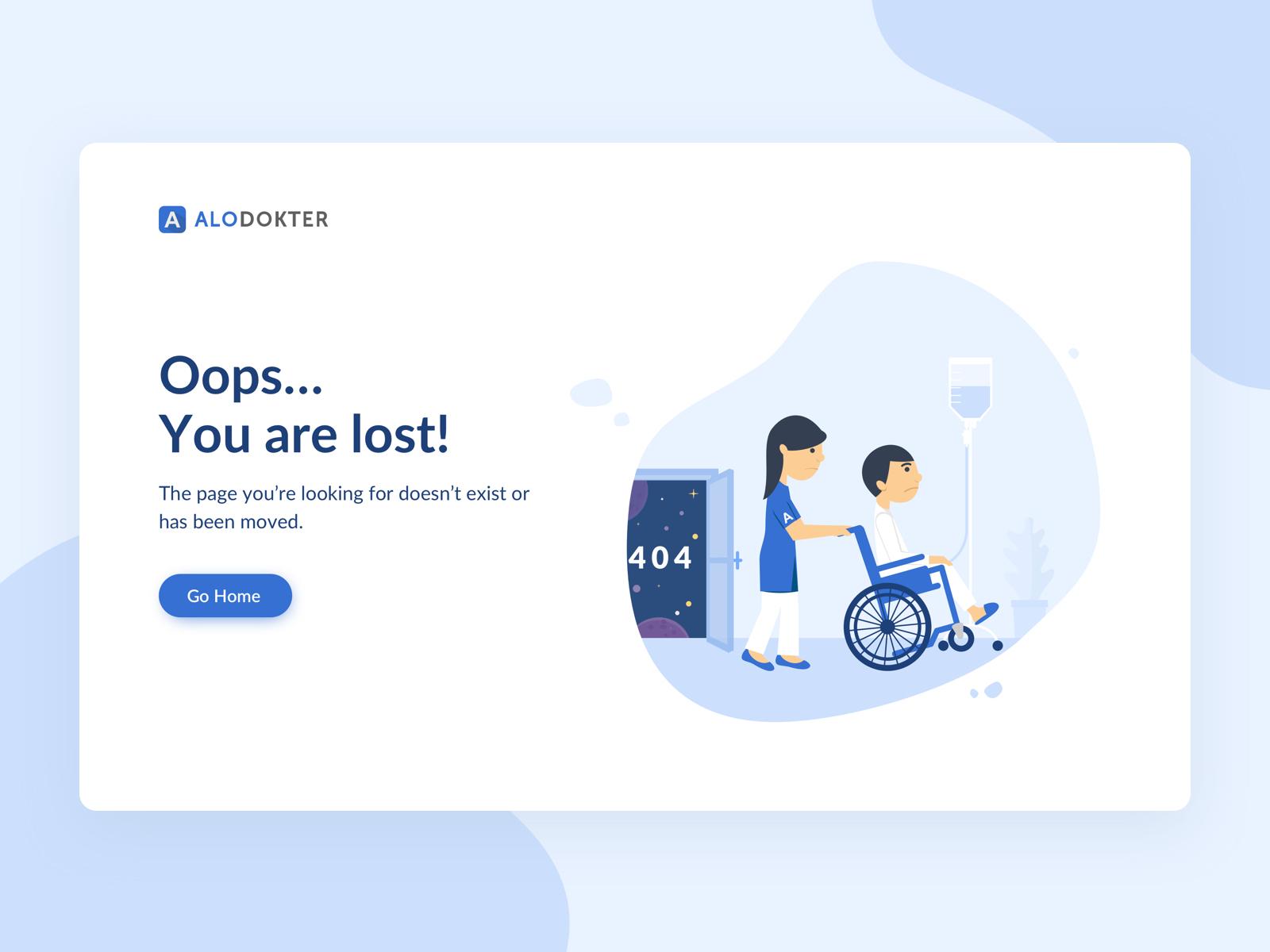 404 Page Not Found By Dwiki Saputra Dribbble Presentation 4x