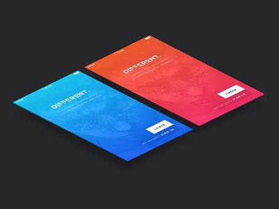 Different - UI KIT red blue freebie free app ux ui uiux
