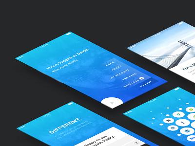 Different UI KIT - Free Download ! psddd kit blue user interface app ux ui download freebie sketch