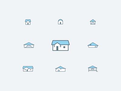 Icons accommodation